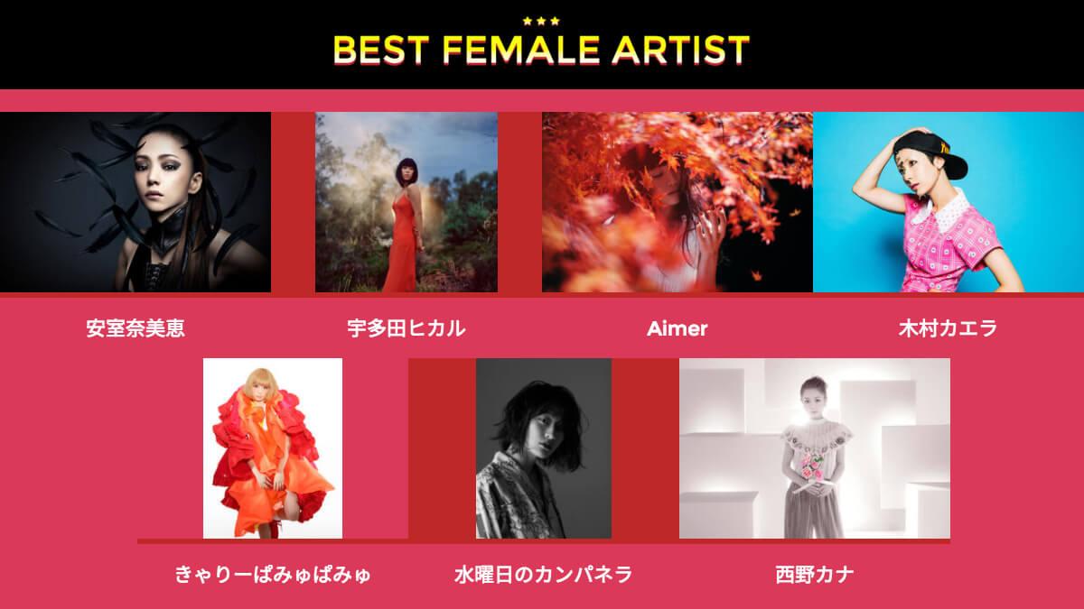 BEST FEMALE ARTIST